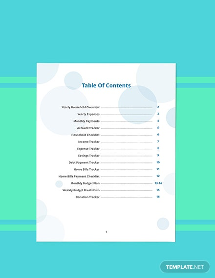 Family Budget Planner Template Format