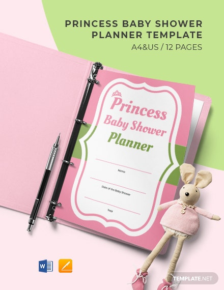 Princess Baby Shower Planner Template