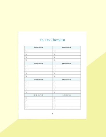 Gift List Baby Shower Planner Schedule