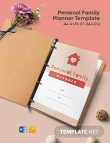 Personal Family Planner Template