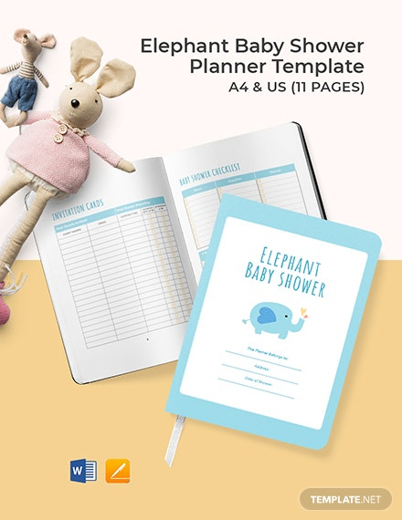 Elephant Baby Shower Planner Template