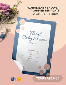 Floral Baby Shower Planner Template