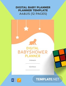Digital Baby Shower Planner Template