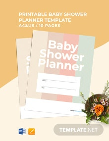 Free Printable Baby Shower Planner Template
