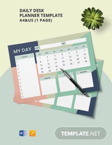 Daily Desk Planner Template