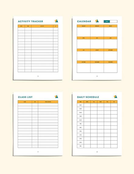 Editable PreSchool Lesson Planner