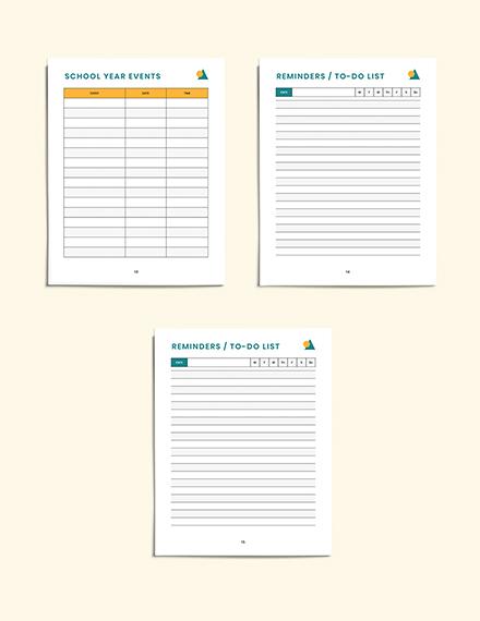 PreSchool Lesson Planner Sample