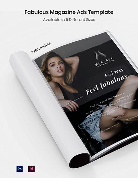 Free Fabulous Magazine Ads Template