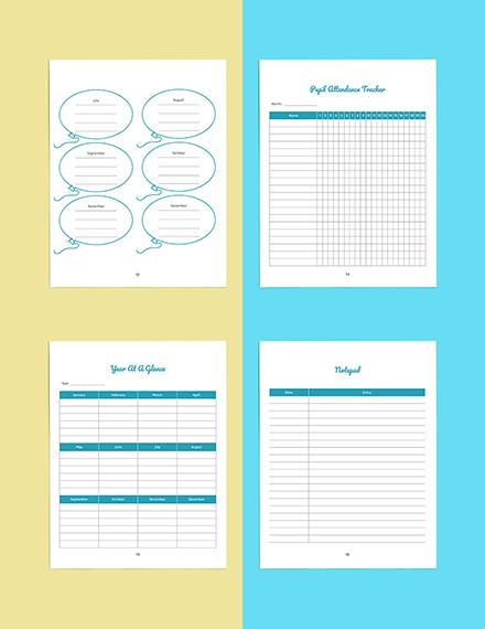 Personal PreSchool Planner Template Printable