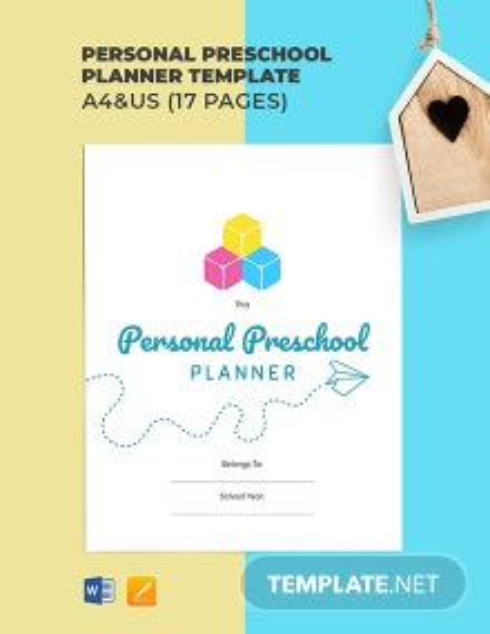 Personal Preschool Planner Template