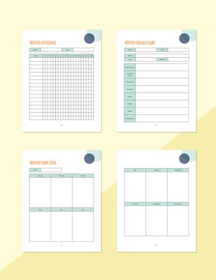 Monthly PreSchool Planner Format