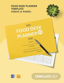 Food Desk Planner Template