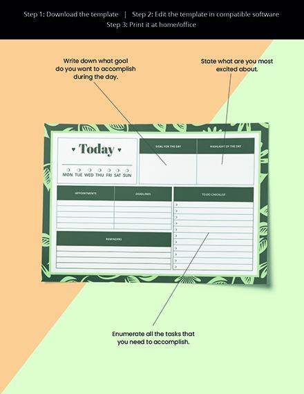 life Desk Planner Template Editable