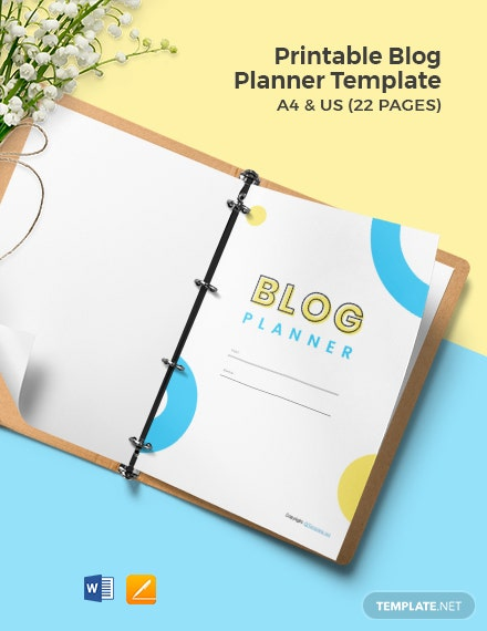 Free Printable Blog Planner Template