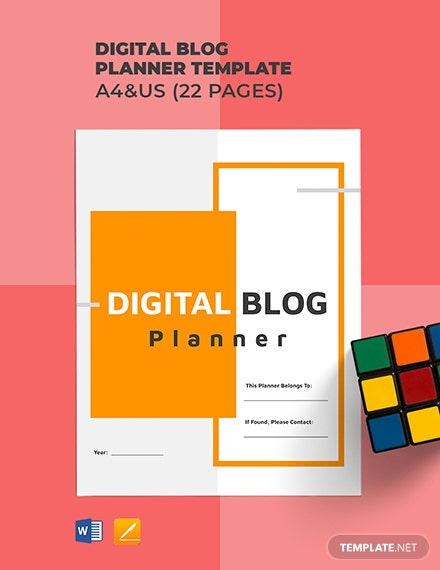 Digital Blog Planner Template