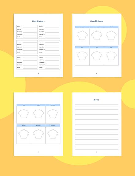 Weekly PreSchool Planner Template Editable