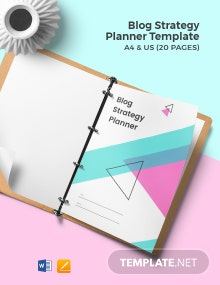 Blog Strategy Planner Template