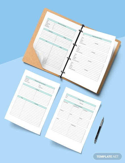 Daily PreSchool Planner Editable