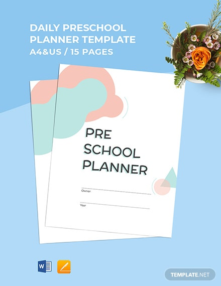 Daily Preschool Planner Template