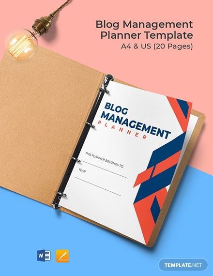 Blog Management Planner Template