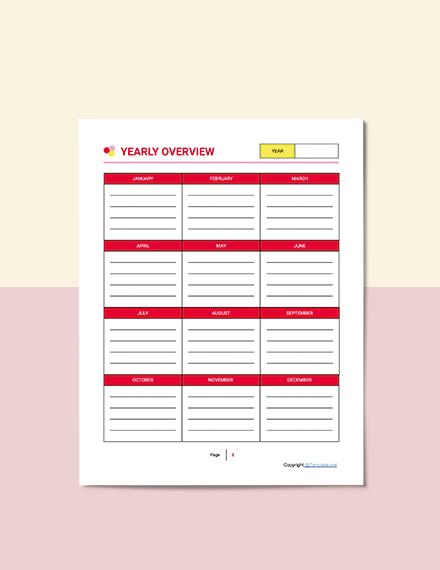 Printable Preschool Planner Format