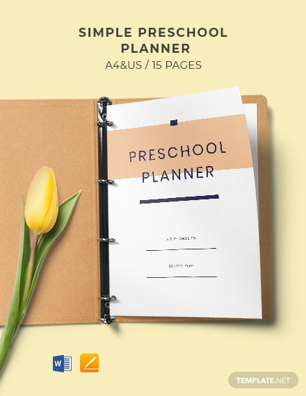 Free Simple Preschool Planner Template