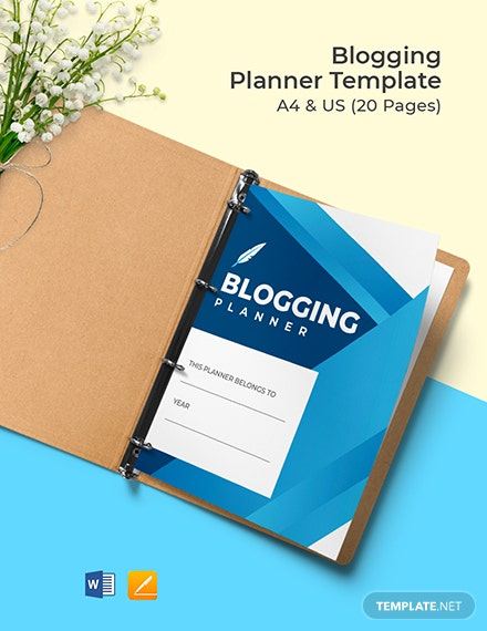 Blogging Planner Template