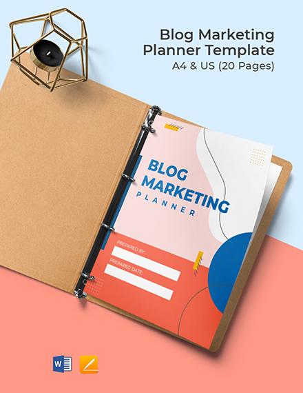 Blog Marketing Planner Template