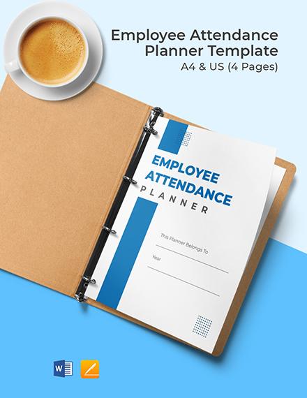 Employee Attendance Work Planner Template