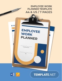 Employee Work Planner Template