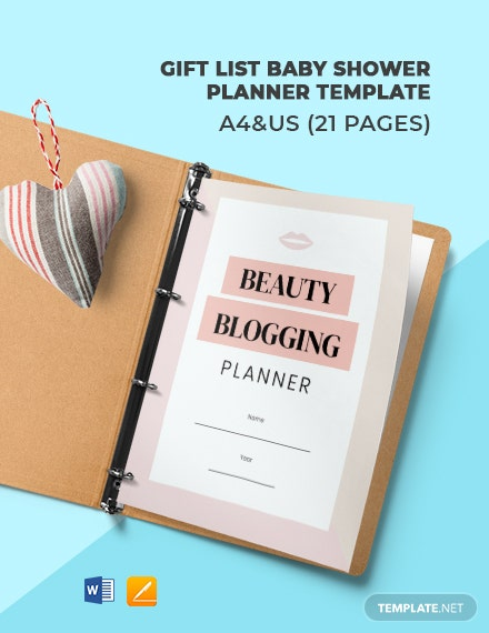 Beauty Blogger Planner Template