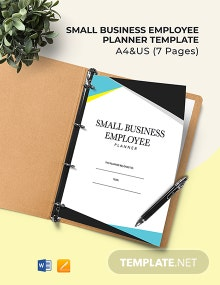 Small Business Employee Planner Template