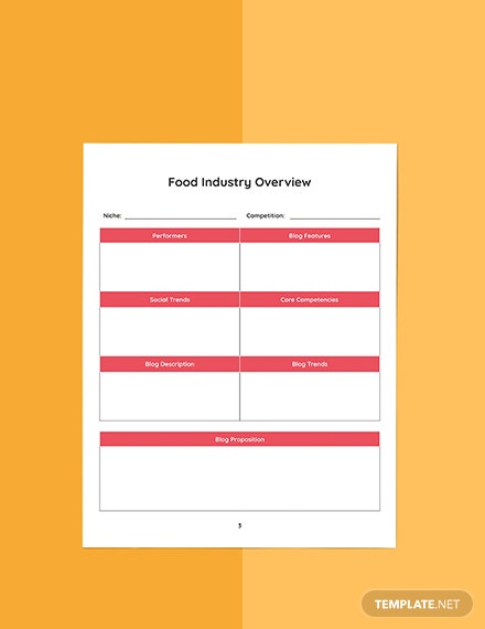 Food Blog Planner Template Download