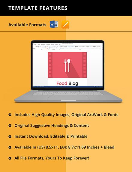 Food Blog Planner Template Instruction