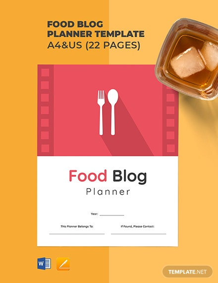 Food Blog Planner Template