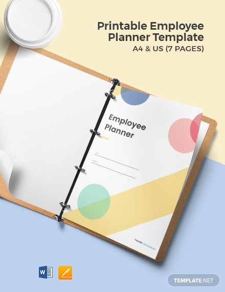 Free Printable Employee Planner Template