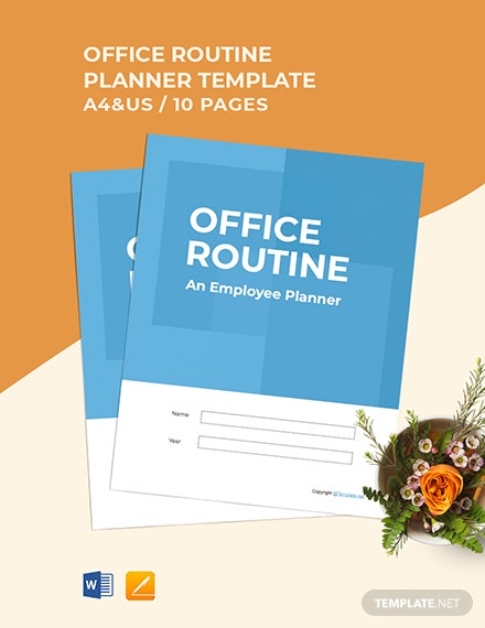 Free Sample Employee Planner Template