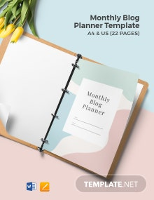 Monthly Blog Planner Template