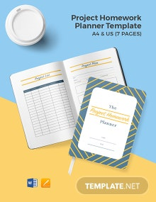 Project Homework Planner Template