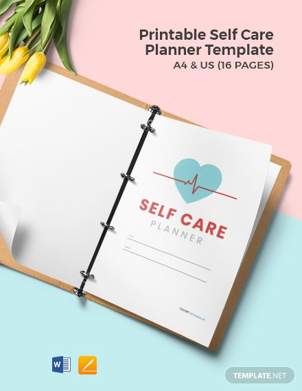 Free Printable Self Care Planner Template
