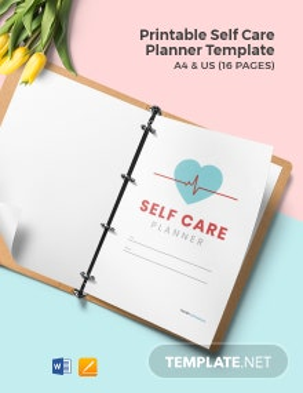 Free Printable Self Care Planner Template