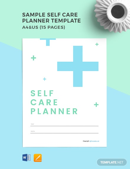Free Sample Self Care Planner Template
