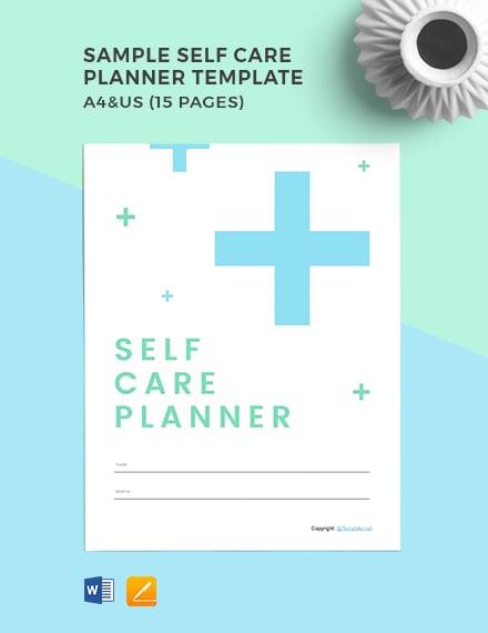 Free Sample Self Care Planner Template