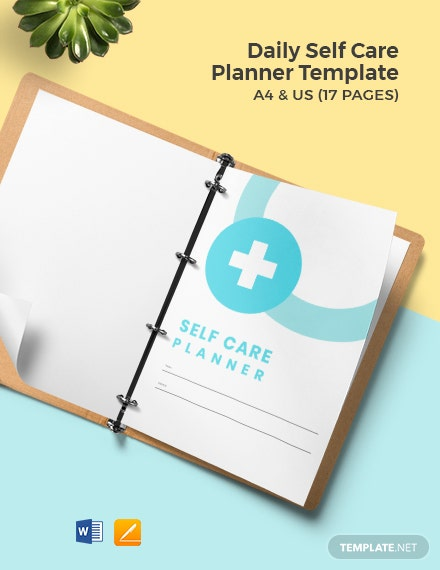 Daily Self Care Planner Template
