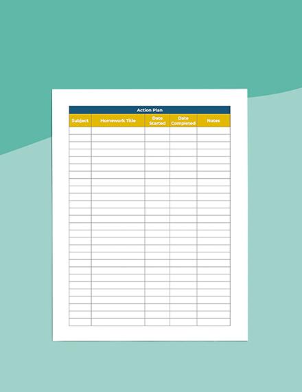 middle School homework Planner Download