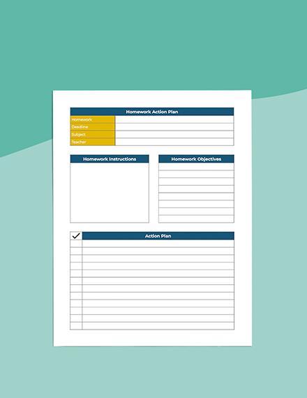 middle School homework Planner Printable