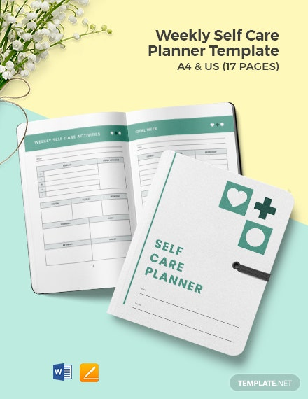 Weekly Self Care Planner Template