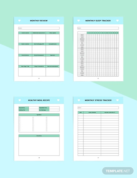 Monthly self care Planner Printable