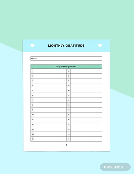 Monthly self care Planner Sample