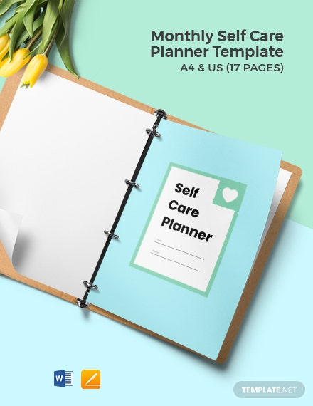 Monthly Self Care Planner Template